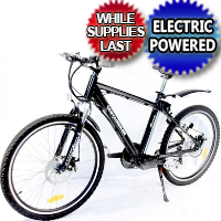 350 Watt Lithium Powered Electric Bicycle Mountain Bike 6 Speed w/ Disc Brakes