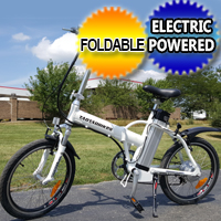 350 Watt Lithium Electric Folding Bicycle E-Bike 6 Speed With Brakes