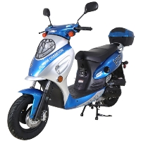 50cc Smooth Rider Moped Gas Scooter