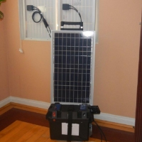 12v 80 Watts 55 Amp Hours Solar Power Generator