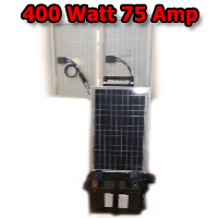 Solar Powered Generator 12V 400 Watt 75 Amp Hours Solar Power Generator