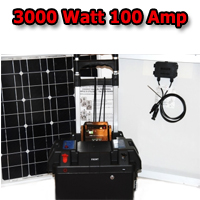 Solar Powered Generator 100 Amp 3000 Watt Solar Generator Just Plug and Play NOT A KIT