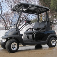 48V Black Club Car Precedent Electric Golf Cart