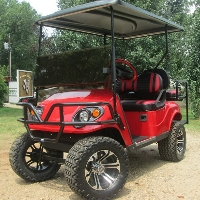Cherry Red Phoenix Ez-Go 36V Electric Golf Cart