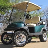 48V Green Club Car Precedent Lifted Electric Golf Cart
