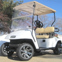 Pearl White Custom Ez-go TXT 36V Electric Golf Cart