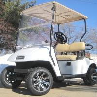Pearl White Custom Ez-go TXT 36V Electric Golf Cart