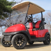 48V Candy Red Club Car Precedent Electric Golf Cart