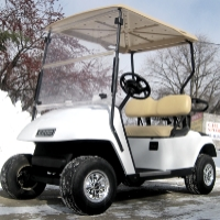White Ez-Go 36 Volt Electric Golf Cart