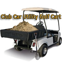 48V Club Car Precedent Utility Golf Cart With Aluminum Dump Bed