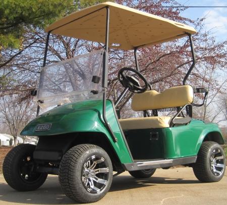 Green Ez Go 36v Electric Golf Cart W Custom Rims Amp Tires
