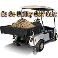 Custom Ez Go 36V Electric Utility Golf Cart With Brute Plastic Dump Bed