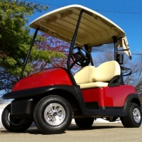 48V Maroon Club Car Precedent Electric Golf Cart