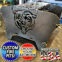Brand New Fire Pit Grill Customizable Colaspable Personalized Themed