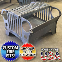 Brand New Fire Pit Grill Jeep Customizable Personalized Themed