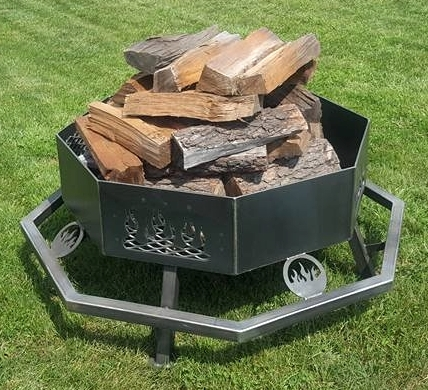 - Brand New Fire Pit Grill Customizable Octagon Personalized Themed