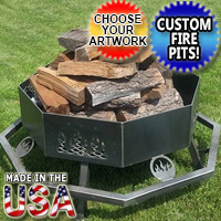 Brand New Fire Pit Grill Customizable Octagon Personalized Themed