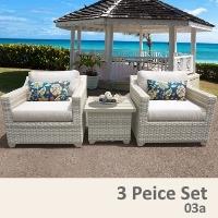 Fairview 3 Piece Outdoor Wicker Patio Furniture Set - 2017 Model