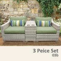 Fairview 3 Piece Outdoor Wicker Patio Furniture Set - 2017 Model