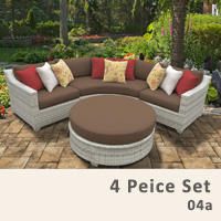 Fairview 4 Piece Outdoor Wicker Patio Furniture Set - 2017 Model