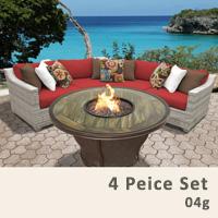 Fairview 4 Piece Outdoor Wicker Patio Furniture Set - 2017 Model