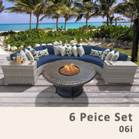 Fairview 6 Piece Outdoor Wicker Patio Furniture Set