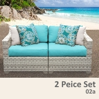 Fairview 2 Piece Outdoor Wicker Patio Furniture Set - 2017 Model