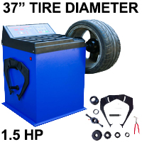 Single Heavy Duty Wheel Balancer Tire Balance Machine Rim Car - Model 680