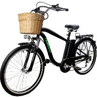 "26"" Electric Bicycle 250 Watt City Lithium Powered Bike with Plastic Basket"