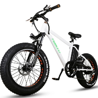 "20"" Electric Fat Tire Bicycle 36v 10Ah Lithium Powered Mini Cruiser Bike"