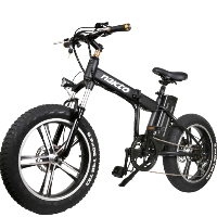 "20"" Electric Folding Mini Bicycle 350 Watt 48 Volt Lithium Powered Mini Bike Cruiser"
