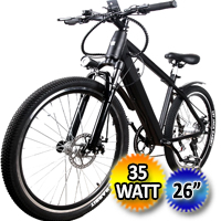 "26"" Electric Bicycle 350 Watt Lithium Powered Mountain Bike"