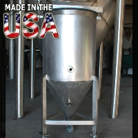 1 Barrel Stainless Steel Conical Fermenter Uni Beer Tank - 100% MADE IN THE USA