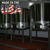 1500 Gallon Open Top Stainless Steel Wine Tank Fermenter - 100% MADE IN THE USA