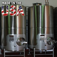 Brand New 3000 Gallon Stainless Steel Wine Tank Fermenter - 100% MADE IN THE USA