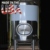 7 Barrel Double Wall Stainless Steel Conical Fermenter Uni Beer Tank - 100% MADE IN THE USA