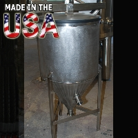 8 Gallon Stainless Conical Fermenter Beer Tank - 100% MADE IN THE USA