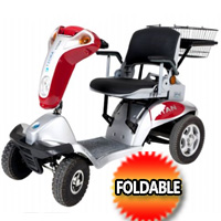 Tzora Hummer XL Foldable Mobility Scooter Portable Travel Folding Scooter