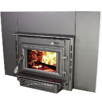 Mid Size Wood Insert 2200IE Fireplace Warms Up To 1,800 Sq. Ft.