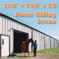 100'x 100'x18' Prefab Steel Horse Riding Arena Commercial Building