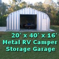 20' x 40' x 16' Metal Camper RV Storage Garage Building