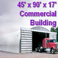 45' x 90' x 17' Steel Storage Pole Barn Building