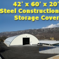 42' x 60' x 20' Steel Metal Arch Quonset Storage Building