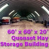 60' x 60' x 20' Quonset Metal Arch Farm Dome Building