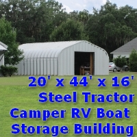 20' x 44' x 16' Steel Tractor Camper RV Storage Building