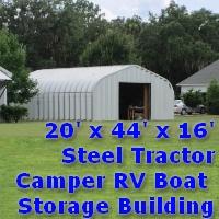 20' x 44' x 16' Steel Tractor Camper RV Storage Building