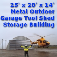 25' x 20' x 14' Prefab Metal Tool Shed Barn Storage Building