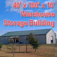40' x 100' x 16' Steel Frame Tractor Garage Factory Warehouse Commercial Storage Building