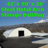 42' x 90' x 20' Steel Metal Arch Quonset Storage Building