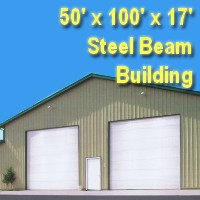 50' x 100' x 17' Steel Frame Factory Warehouse Commercial Storage Building